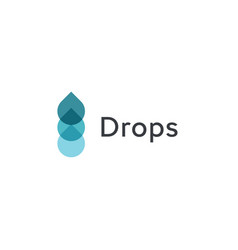 Drops icon blue water flow from concept vector