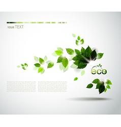 eco brochure vector image
