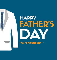 father day greeting card background blue vector image