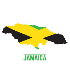 Flag and map of jamaica vector