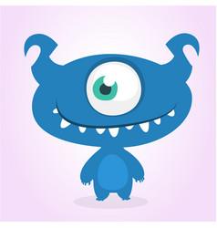 Funny cartoon one-eyed alien vector