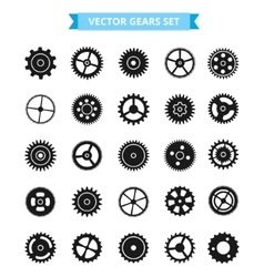 Gear Icon Set Isolated gears vector