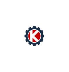 gear letter k logo icon design vector image