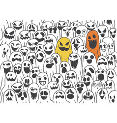 Ghost pattern halloween scarf isolated vector