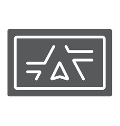 gps navigator glyph icon electronic and device vector image