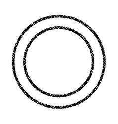 grunge thin stamp vector image