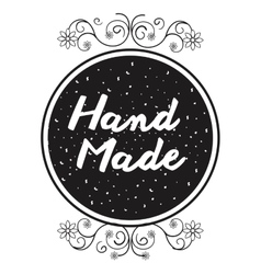 hand made label icon vector image