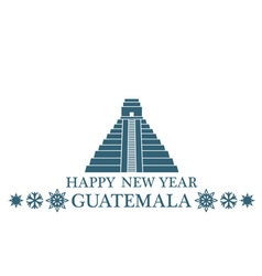 Happy New Year Guatemala vector