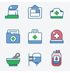 Health and medical care icons vector image