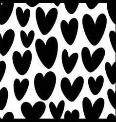 heart silhouette seamless pattern vector image