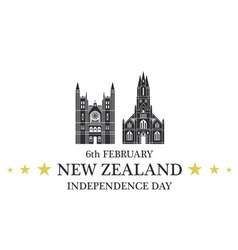 Independence Day New Zealand vector image