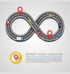 Infinity road location vector