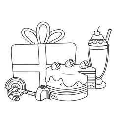 Isolated happy birthday surprise design vector