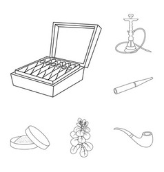 Isolated object of health and nicotine icon vector