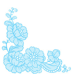 lace ornamental decoration with flowers vector image