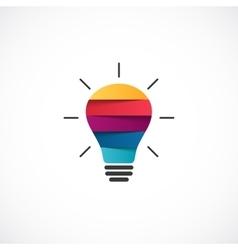 Light bulb logo template modern abstract vector