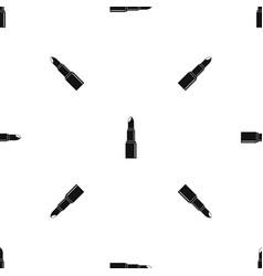 Lipstick pattern seamless black vector