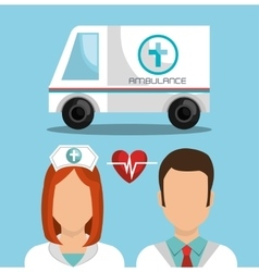 Medical ambulance vehicle vector