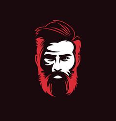 Men beard logo vector