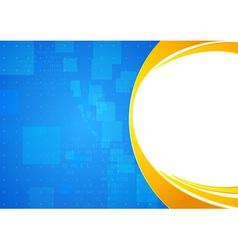 Modern futuristic background template vector image