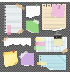 Note Papers Set vector