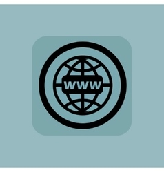 Pale blue global network sign vector image