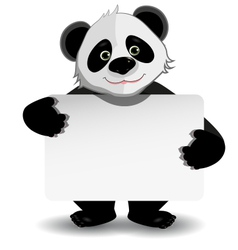 Panda with white background vector