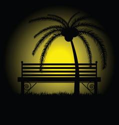 park bench empty vector image