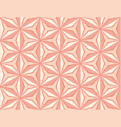 Pattern with star mosaic tiles in pink colors vector