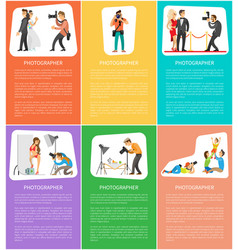 Photographer professional and services online vector
