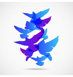 Pigeons design background vector