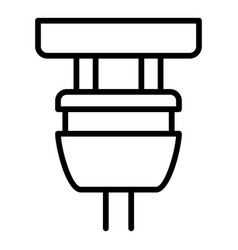 Plugged plug icon outline style vector