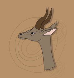 portrait of a gazelle on a colored background vector image