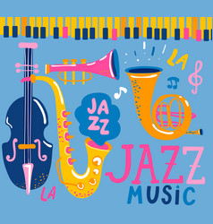 Poster for the jazz music vector