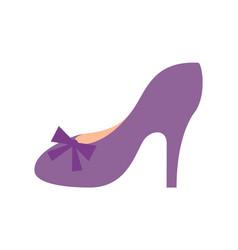 princess shoe of purple color vector image