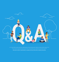 Question and answer concept young vector