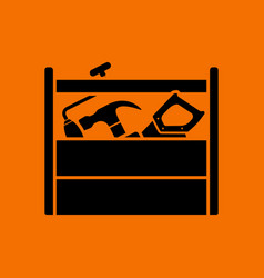 retro tool box icon vector image