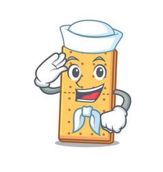 Sailor graham cookies character cartoon vector