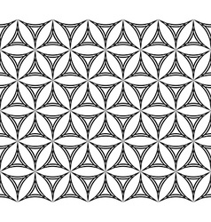 Seamless hexagonal curved triangle pattern vector