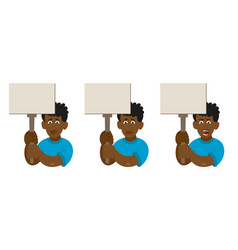 set african man protest vector image