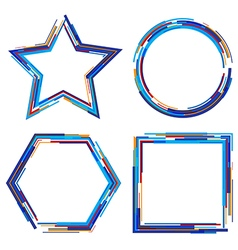 set of abstract geometrical frames vector image
