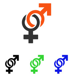 sexual symbols flat icon vector image