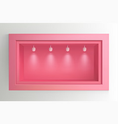 Showcase with light sources vector