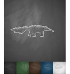 skunk icon vector image