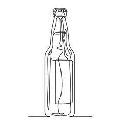 Soda bottle continuous line vector