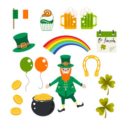 st patrick holiday set vector image