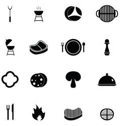 steak icon set vector image