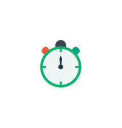 timer icon flat element of vector image