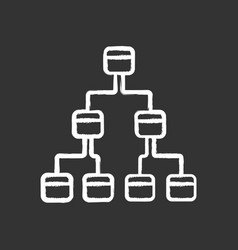 Tree diagram chalk icon hierarchical system node vector