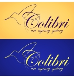 Two colibri banners vector
